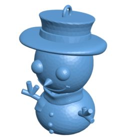 Snowman keychain B003405 file stl free download 3D Model for CNC and 3d printer