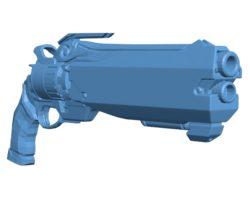 Space Pirate gun B003677 file stl free download 3D Model for CNC and 3d printer