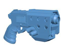 Space pistol gun B003462 file stl free download 3D Model for CNC and 3d printer
