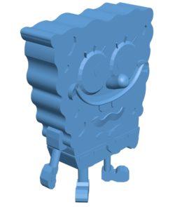 Sponge boy B002867 file stl free download 3D Model for CNC and 3d printer