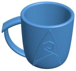Star trek mug B003761 file stl free download 3D Model for CNC and 3d printer