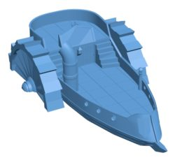 Steamboat Ship B003522 file stl free download 3D Model for CNC and 3d printer