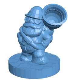 Steampunk gnome B003002 file stl free download 3D Model for CNC and 3d printer