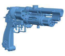 Steampunk gun B003322 file stl free download 3D Model for CNC and 3d printer