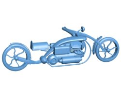 Steampunk moto B003634 file stl free download 3D Model for CNC and 3d printer