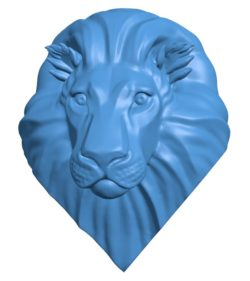 Stylized lion head B003763 file stl free download 3D Model for CNC and 3d printer