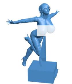 Super girl 003743 file stl free download 3D Model for CNC and 3d printer