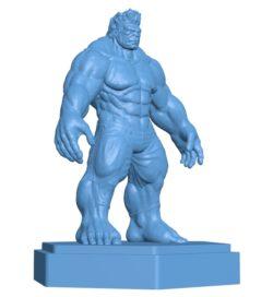Super hero Hulk figure B002882 file stl free download 3D Model for CNC and 3d printer