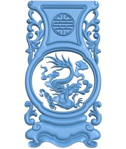 Table and chair pattern Dragon A003050 wood carving file stl for Artcam and Aspire jdpaint free vector art 3d model download for CNC
