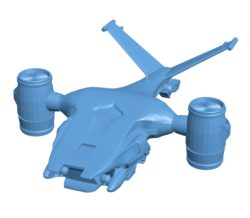 Terminator Hunter Killer Ship B003506 file stl free download 3D Model for CNC and 3d printer