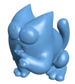 The cat saves money B003638 file stl free download 3D Model for CNC and 3d printer