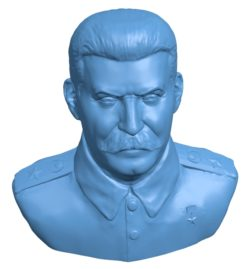 The head bust of Stalin B002880 file stl free download 3D Model for CNC and 3d printer