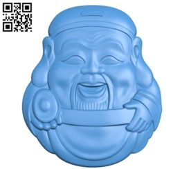 The head of a god of wealth A002805 wood carving file stl for Artcam and Aspire jdpaint free vector art 3d model download for CNC