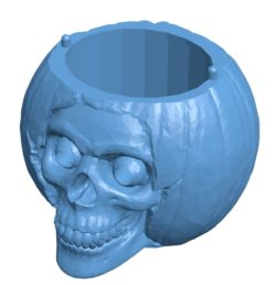 The skull-shaped box B003402 file stl free download 3D Model for CNC and 3d printer