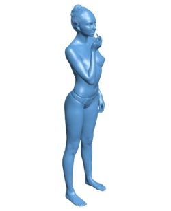 The woman is wearing lipstick B002893 file stl free download 3D Model for CNC and 3d printer