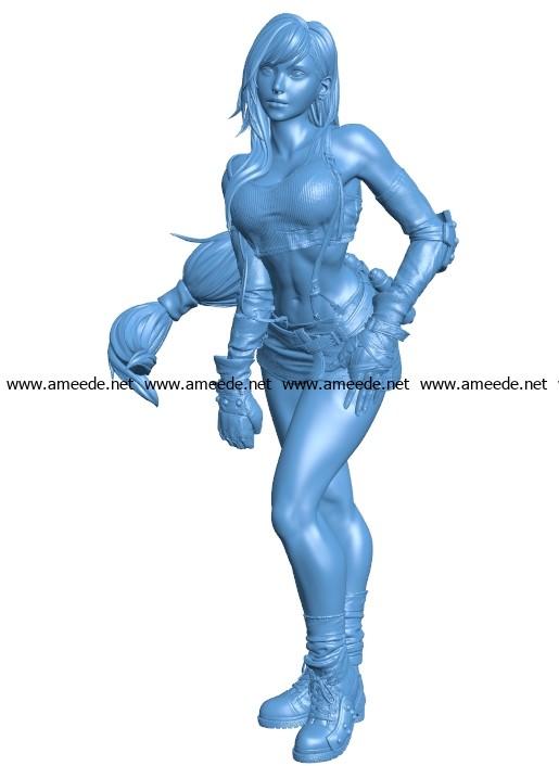 Tifa Final Fantasy B003683 file stl free download 3D Model for CNC and 3d printer