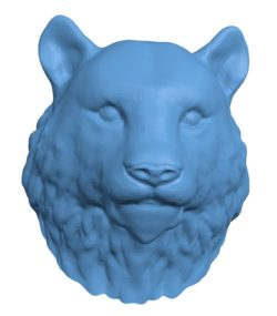 Tiger Head B002921 file stl free download 3D Model for CNC and 3d printer