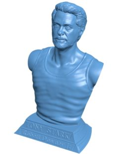 Tony Stark iron men B003702 file stl free download 3D Model for CNC and 3d printer