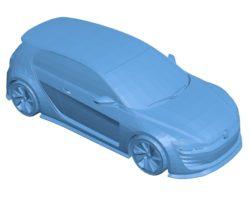 Volkswagen GTi Vision Car B003428 file stl free download 3D Model for CNC and 3d printer