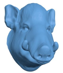 Wild Boar Head B002922 file stl free download 3D Model for CNC and 3d printer