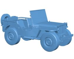 Willys MB Jeep Forza Horizon Car B002927 file stl free download 3D Model for CNC and 3d printer