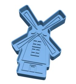 Windmill Cookie Cutter B003152 file stl free download 3D Model for CNC and 3d printer