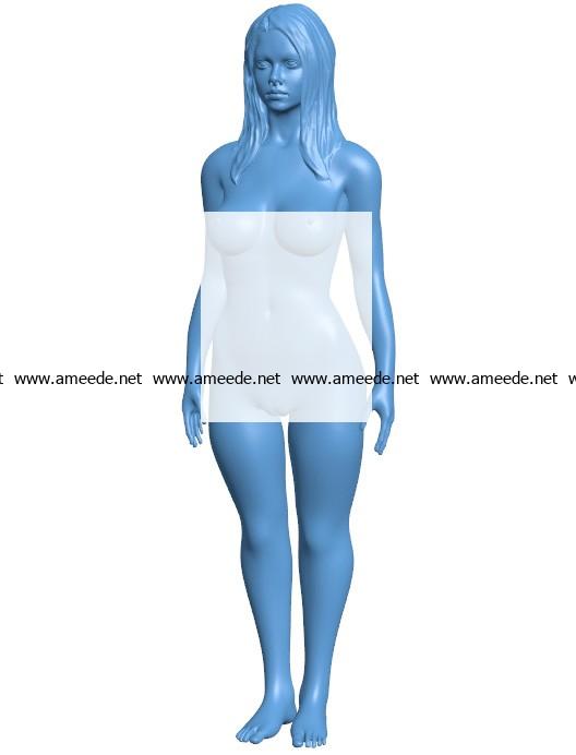 Woman B003697 file stl free download 3D Model for CNC and 3d printer