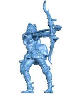Woman Bandit Archer B002902 file stl free download 3D Model for CNC and 3d printer