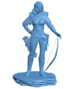 Woman Guild of Heroes B003618 file stl free download 3D Model for CNC and 3d printer