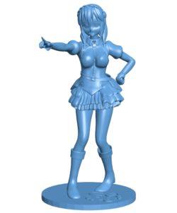 Woman konosuba yunyun B003612 file stl free download 3D Model for CNC and 3d printer