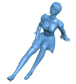 Woman sitting Without Base B002924 file stl free download 3D Model for CNC and 3d printer