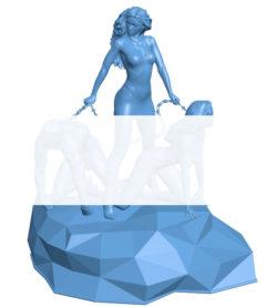Women B003590 file stl free download 3D Model for CNC and 3d printer
