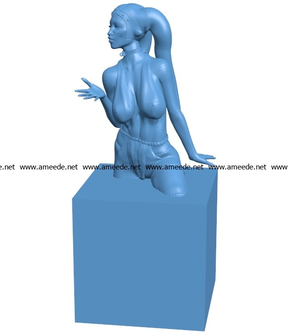 Women B003680 file stl free download 3D Model for CNC and 3d printer