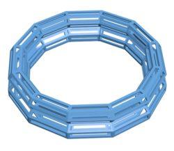 Woody bracelet B002998 file stl free download 3D Model for CNC and 3d printer