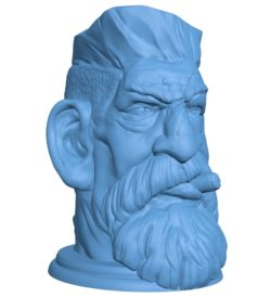 Zombie hunter head B003009 file stl free download 3D Model for CNC and 3d printer