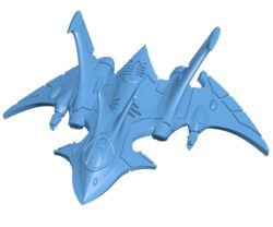 Crimson hunter Ship B003555 file stl free download 3D Model for CNC and 3d