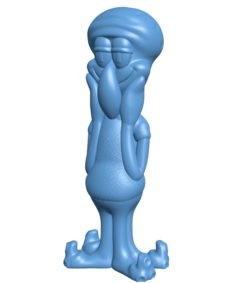Happy Squidward B003075 file stl free download 3D Model for CNC and 3d printer