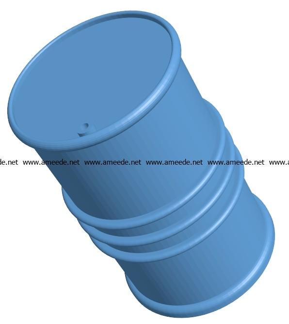 industrial barrel B003161 file stl free download 3D Model for CNC and 3d printer