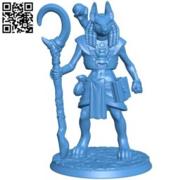 Anubis figurine B004374 file stl free download 3D Model for CNC and 3d printer