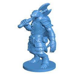 Badger warrior B004137 file stl free download 3D Model for CNC and 3d printer