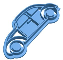 Beetle cookie cutter Car B003867 file stl free download 3D Model for CNC and 3d printer
