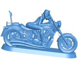 Biker girl B003842 file stl free download 3D Model for CNC and 3d printer