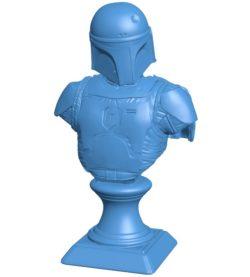 Boba Fett Man B004121 file stl free download 3D Model for CNC and 3d printer
