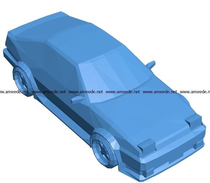 Car AE86 B003864 file stl free download 3D Model for CNC and 3d printer