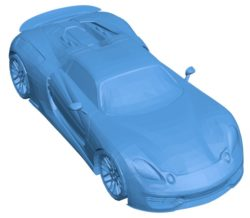 Car Porsche 918 type R B003781 file stl free download 3D Model for CNC and 3d printer