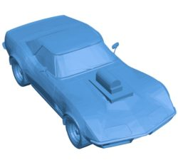 Car corvette with blower B003847 file stl free download 3D Model for CNC and 3d printer