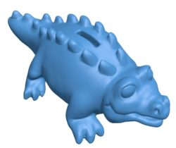 Cartoon Bank Alligator B003861 file stl free download 3D Model for CNC and 3d printer