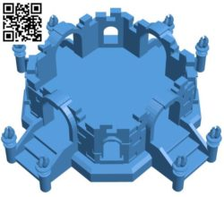 Castle ruins house B004283 file stl free download 3D Model for CNC and 3d printer