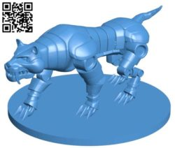 Clock work tiger B004320 file stl free download 3D Model for CNC and 3d printer