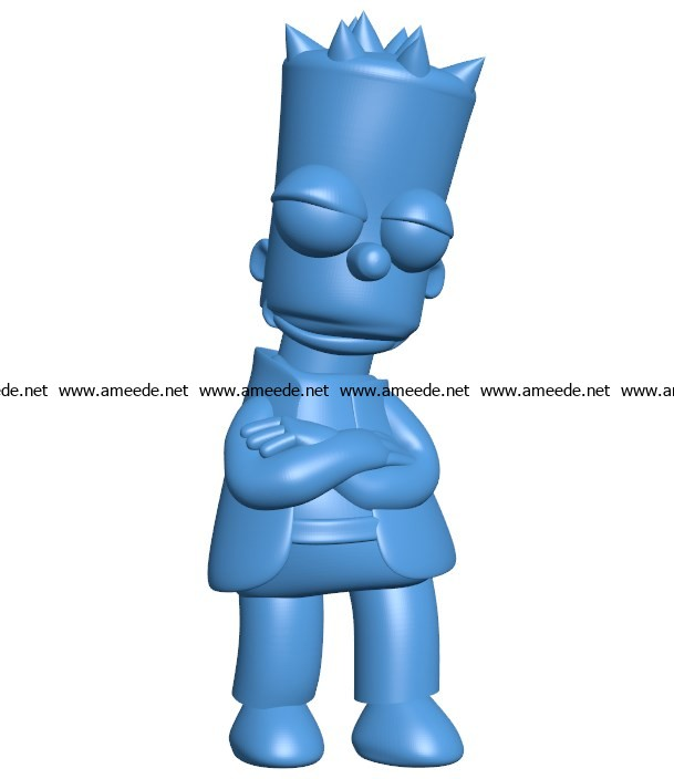 Cool bart simpson B003860 file stl free download 3D Model for CNC and 3d printer